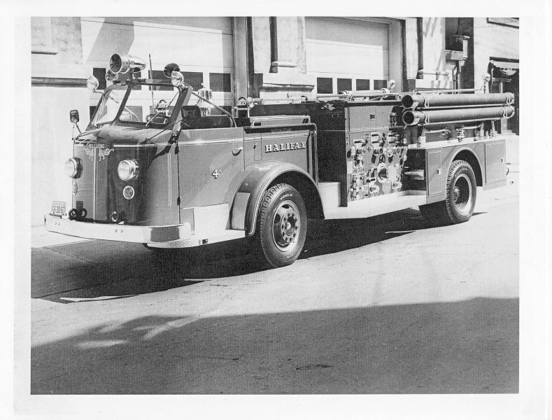 1957 LaFrance pumper Eng 4(The Wedge)