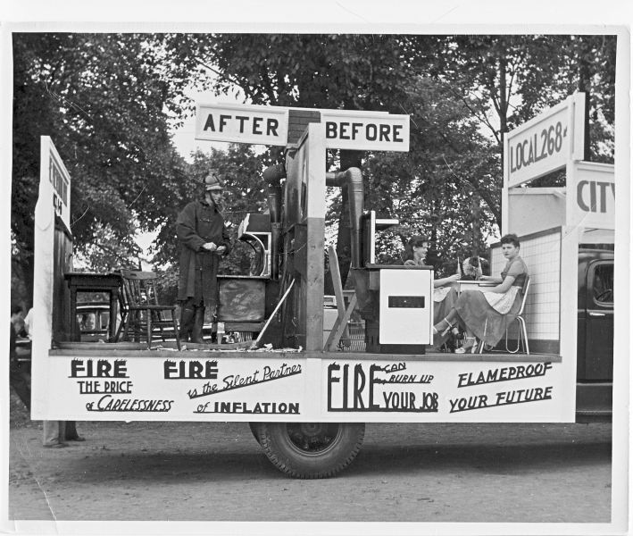 parade float c1950s