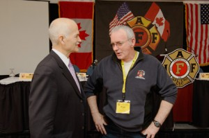 Jack Layton and Local 268 President Paul Boyle
